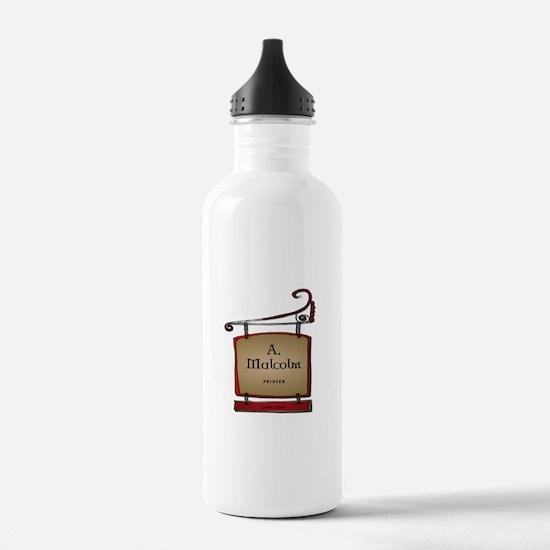 Jamie A. Malcolm Print Water Bottle