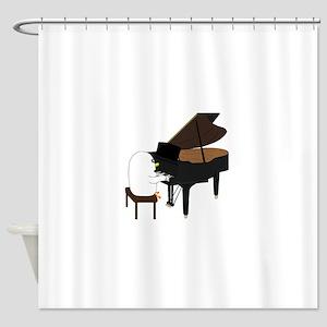 Concert Pianist Shower Curtain