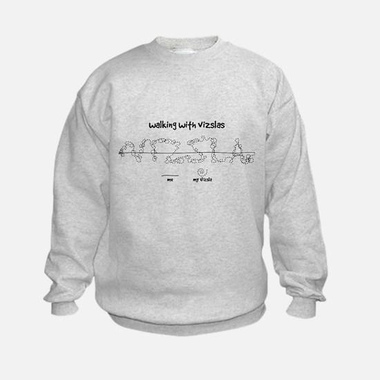 Kid's Vizsla Sweatshirt (walkies)