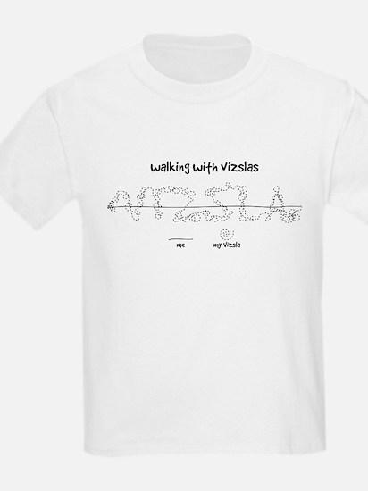 Kid's Vizsla T-Shirt (walkies)
