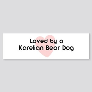 Loved by a Karelian Bear Dog Bumper Sticker