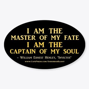 """""""Master Of My Fate"""" Sticker (Oval)"""