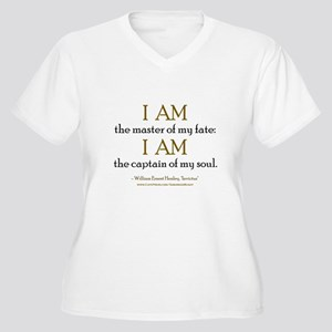"""Master Of My Fate"" Women's Plus Size V-Neck T-Shi"