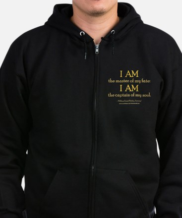 """Master Of My Fate"" Zip Hoodie (dark)"
