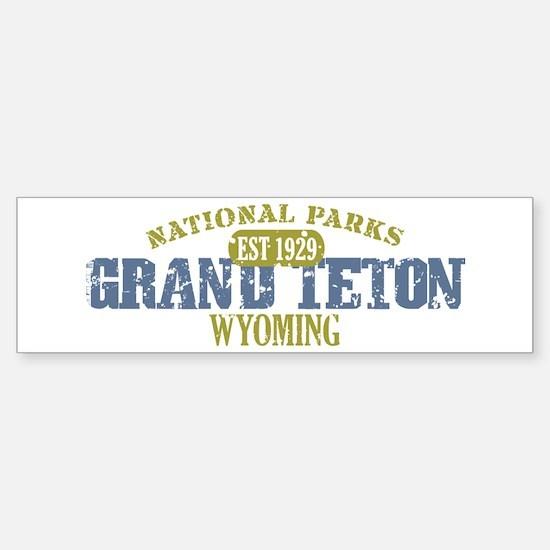 Grand Teton National Park Wyo Sticker (Bumper)