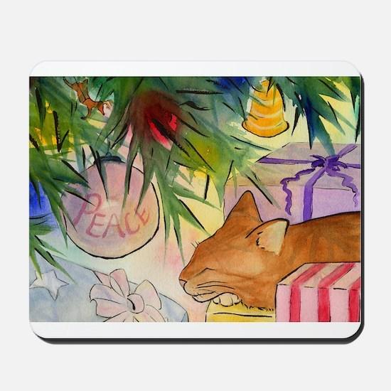 snoozy ornament cat card Mousepad