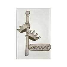 Broadway Signpost Logo Rectangle Magnet