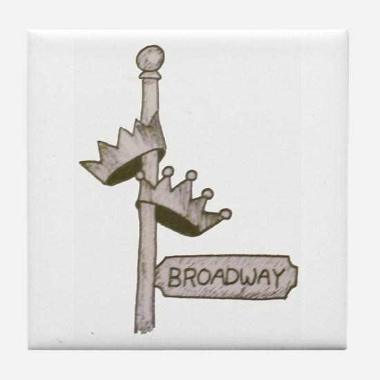 Broadway Signpost Logo Tile Coaster