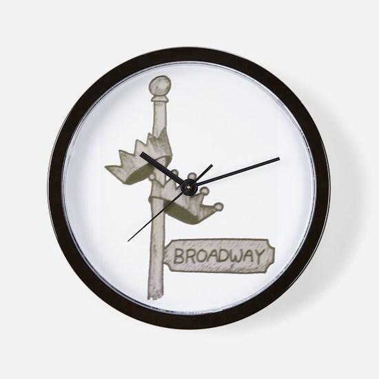 Broadway Signpost Logo Wall Clock