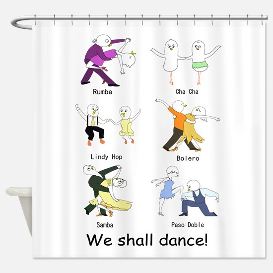 Ballroom Dancers Shower Curtain