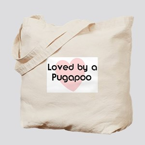 Loved by a Pugapoo Tote Bag