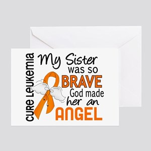 Angel 2 Leukemia Greeting Card
