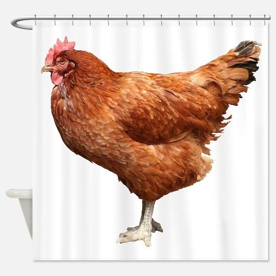 Red Hen Shower Curtain