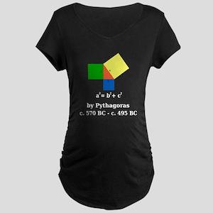 Pythagorean Theorem Maternity Dark T-Shirt