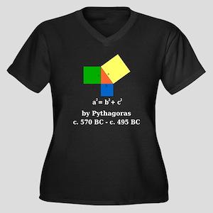 Pythagorean Theorem Women's Plus Size V-Neck Dark
