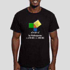 Pythagorean Theorem Men's Fitted T-Shirt (dark)