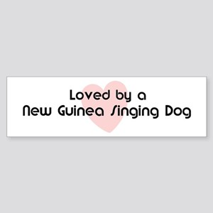 Loved by a New Guinea Singing Bumper Sticker