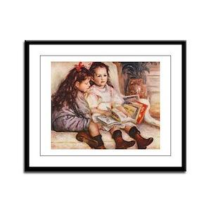 Storytime, Renoir Framed Panel Print