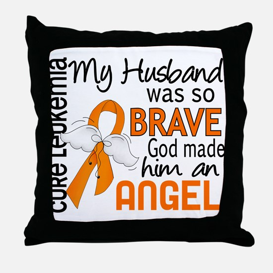 Angel 2 Leukemia Throw Pillow