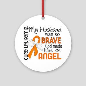 Angel 2 Leukemia Ornament (Round)
