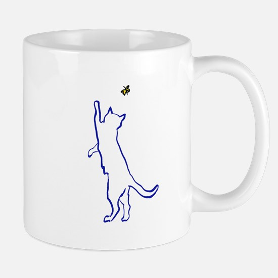 Cat with Butterfly Mug