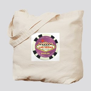 Las Vegas Poker Chip Tote Bag