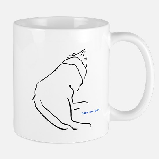 napping cat Mug