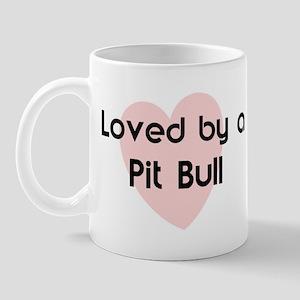 Loved by a Pit Bull Mug