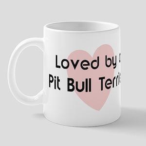 Loved by a Pit Bull Terrier Mug