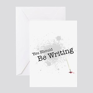 Writer castle greeting cards cafepress you should be writing greeting card m4hsunfo