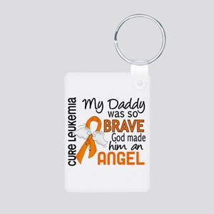 Angel 2 Leukemia Aluminum Photo Keychain
