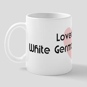 Loved by a White German Sheph Mug