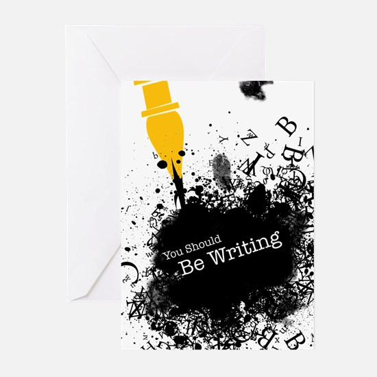 You should be writing (pen) Greeting Cards (Pk of