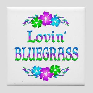 Lovin Bluegrass Tile Coaster