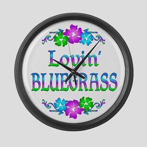 Lovin Bluegrass Large Wall Clock