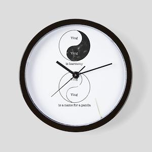 Yin Yang Wall Clock