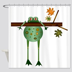 Of Trees and Frogs Shower Curtain