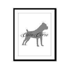 Cane Corso Framed Panel Print