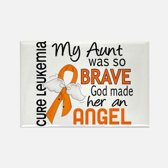 Angel 2 Leukemia Rectangle Magnet