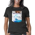 I Believe In God & Science Women's Classic T-Shirt