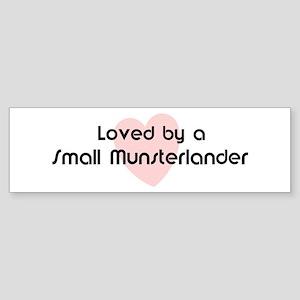 Loved by a Small Munsterlande Bumper Sticker