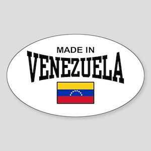 Made In Venezuela Sticker (Oval)