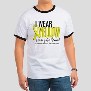 I Wear Yellow 10 Endometriosis Ringer T