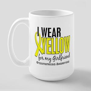 I Wear Yellow 10 Endometriosis Large Mug