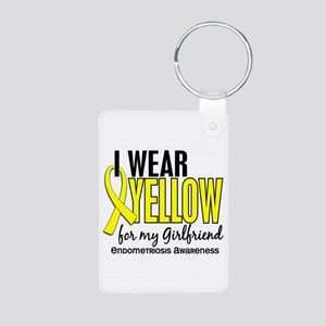 I Wear Yellow 10 Endometriosis Aluminum Photo Keyc