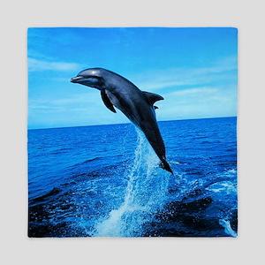 Dolphin Frolicking Queen Duvet