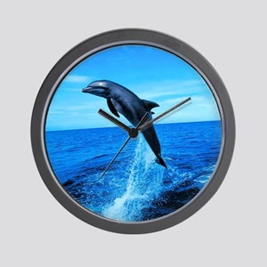 Dolphin Frolicking Wall Clock