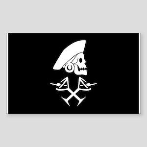 Martini Pirate Sticker (Rectangle)