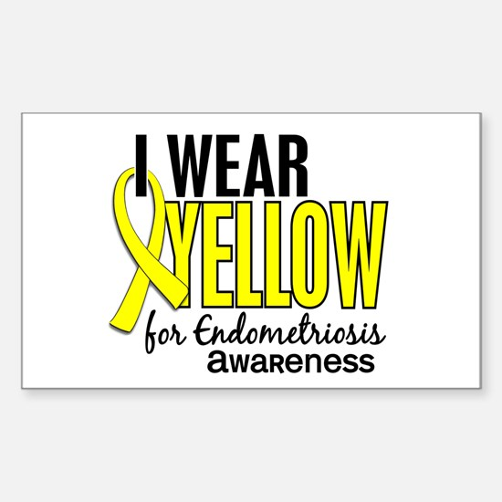 I Wear Yellow 10 Endometriosis Sticker (Rectangle)