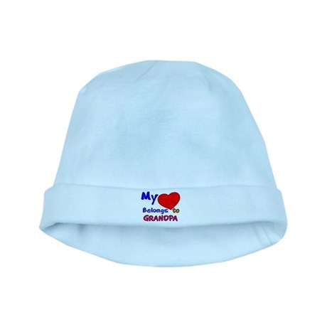 MY HEART BELONGS TO GRANDPA baby hat